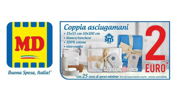 coppia di asciugamani a due euro da MD