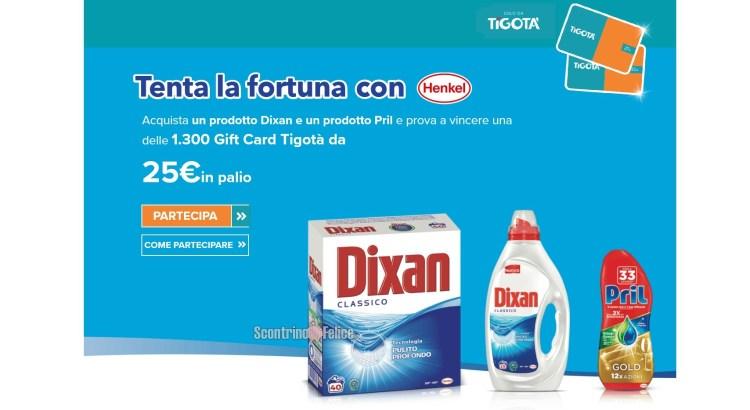Concorso Dixan e Pril da Tigotà: vinci subito una delle 1300 gift card da 25 euro