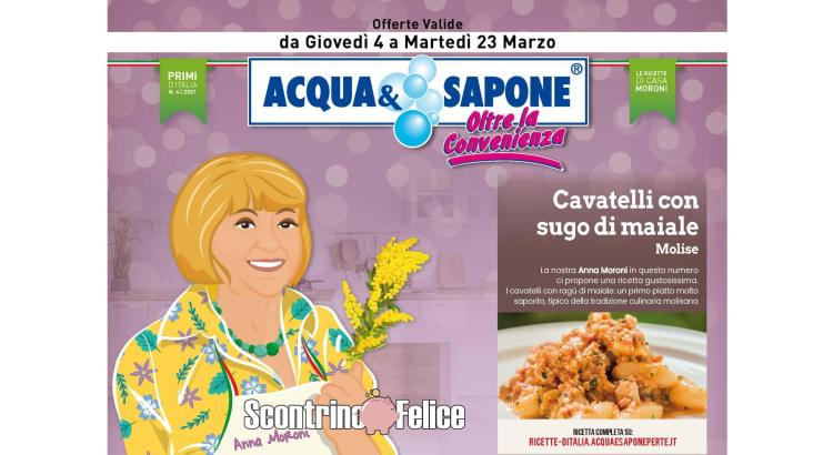 Volantino Acqua e Sapone valido dal 4 al 23-03 2021