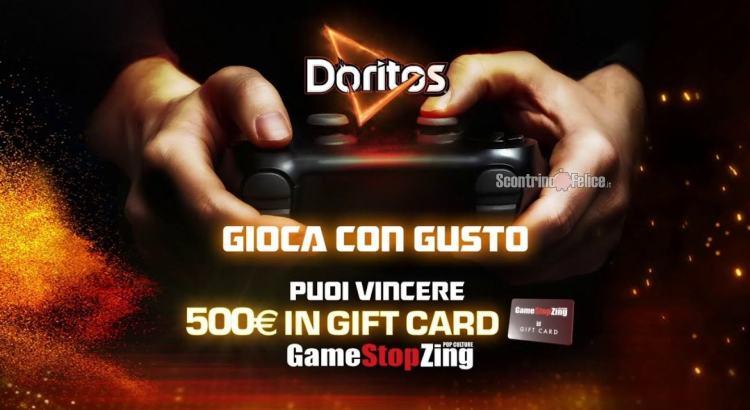 Concorso Doritos Gioca Con Gusto vinci Gift Card GameStopZing da 500 euro