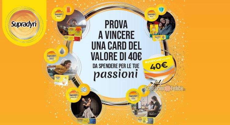 concorso Vinci Le Tue Passioni con Supradyn