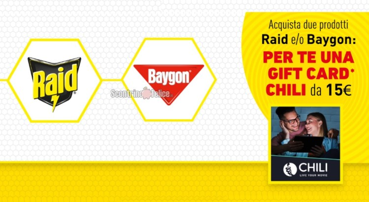 Raid e Baygon ti regalano il cinema CHILI