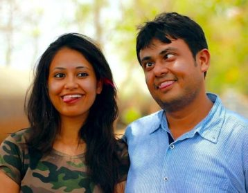 Niharicka Singh with her brother