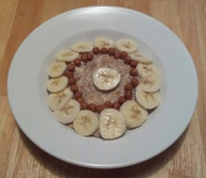Bananas Foster the People Oatmeal with Fresh Bananas and Caramel Bits