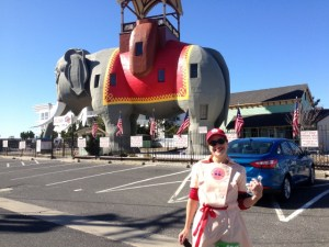 FYI, If you run this race, a photo with Lucy the Elephant is obligatory.