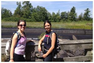 Oh, and sometimes I hike. Here's a snapshot of Sharon (left) and me (right) last summer.