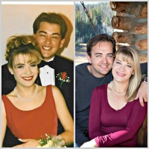 Senior prom in 1995, and Fall of 2014. #alwayshim