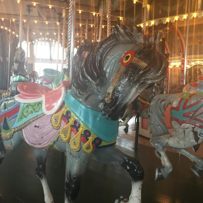 "You can ""adopt"" the carousel horses and the one I was one was named ""Merry"". Kismet? I think so."