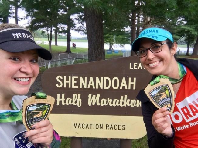 Shenandoah Half Marathon finishers medals
