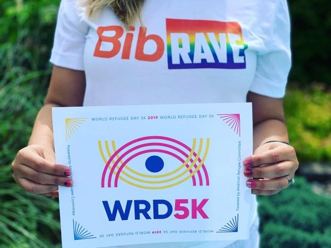 World Refugee Day 5k race bib