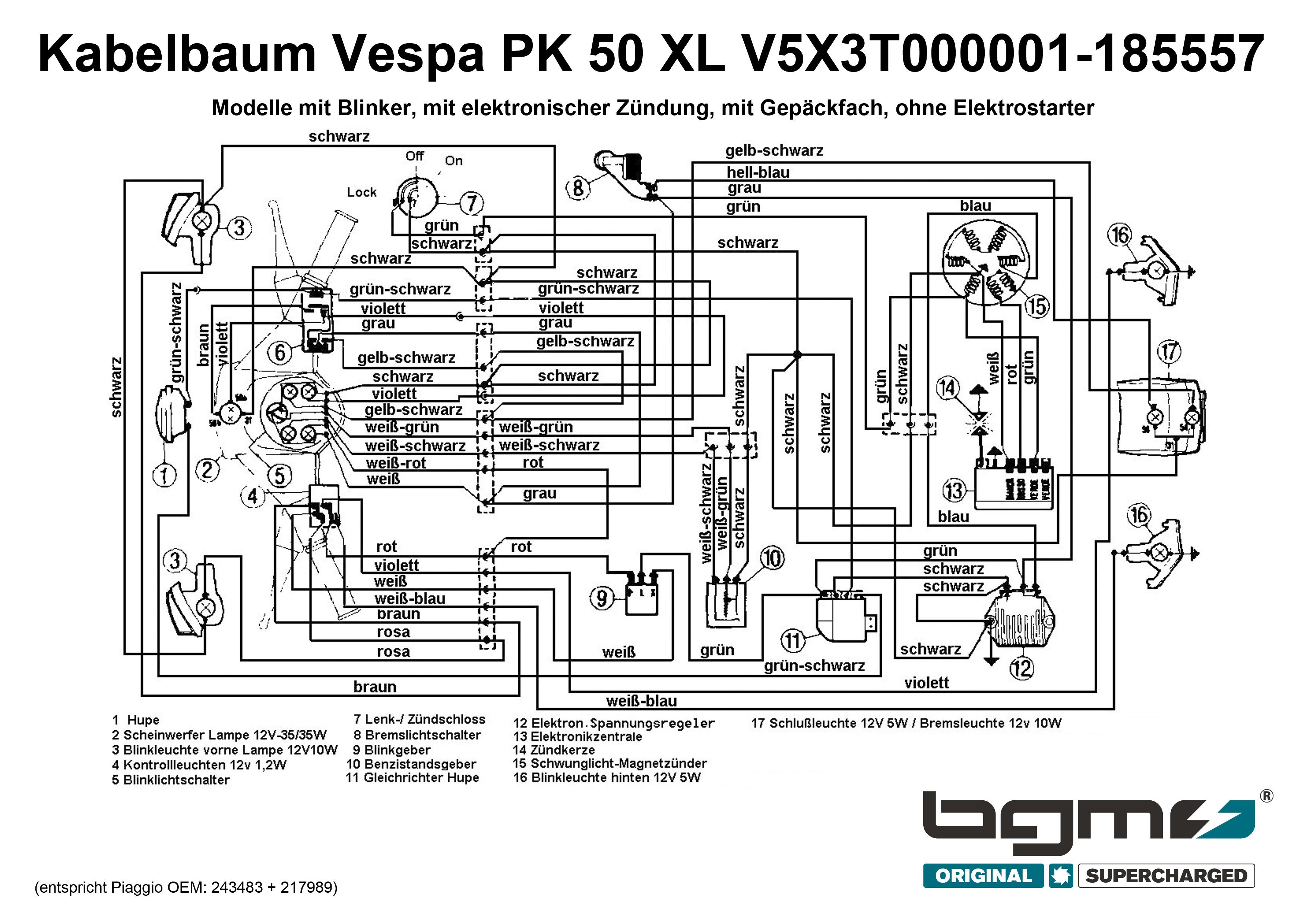 Yamaha Aerox Kabelbaum Schaltplan