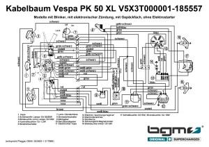Wiring loom VESPA Vespa PK 50 XL (V5X3T000001