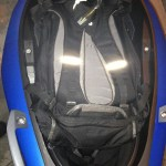 """What can you fit in the C 600's smaller underseat storage? Flexcase down, I could fit my large 25L Osprey backpack containing a 17"""" laptop, numerous drives, files, accessories and other junk I schlep to work every day."""