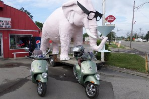 What is your route to Amerivespa – tourist or turnpike ?