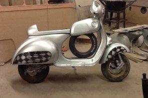 """Custom: 1958 Vespa VNA2T """"Cafe Racer"""""""