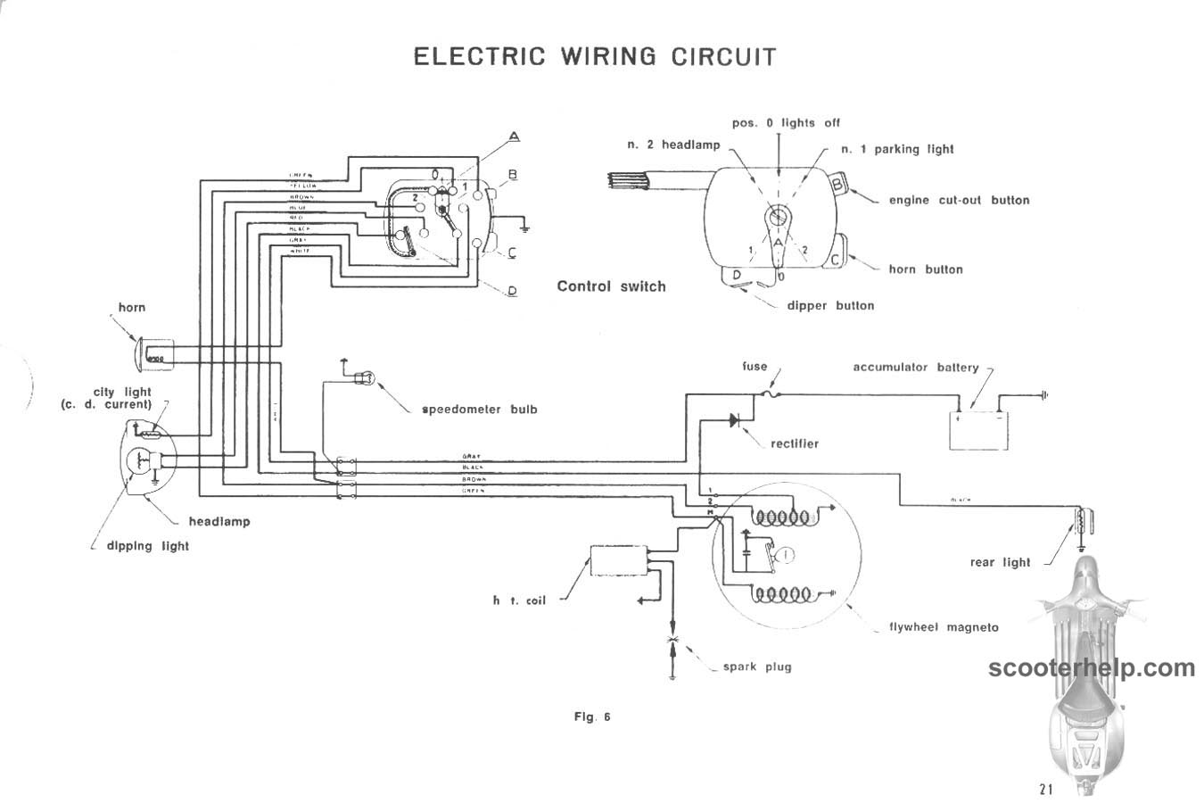 Lambretta Series 2 Light Switch Wiring Diagram Schematic Diagrams Ac Lighted 12 Volt Cer Trailers 3 Wire