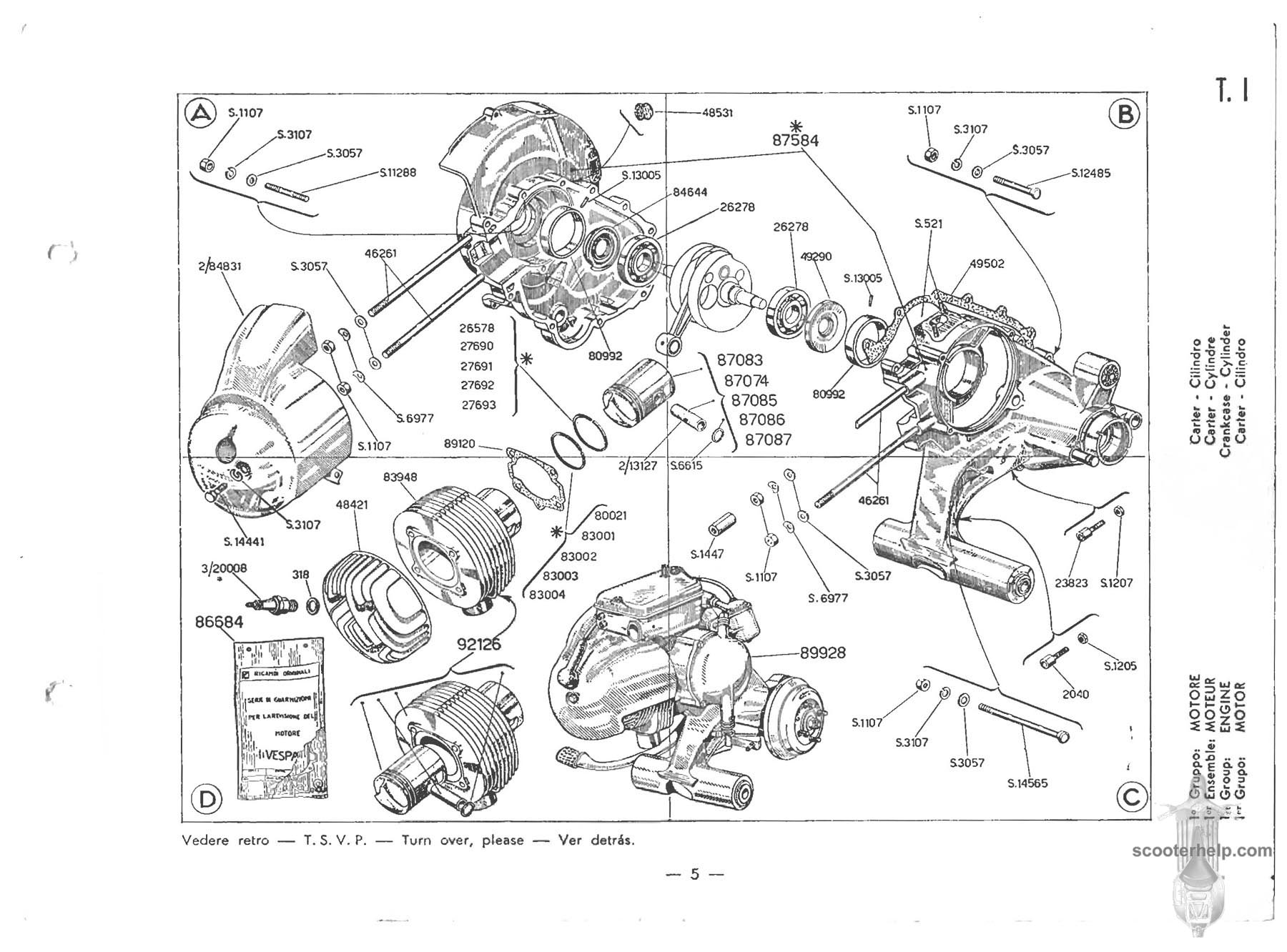 Modern Vespa Bad Crank Bearings Engine Cutting Out