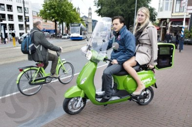 scooter elétrica taxi amsterdao