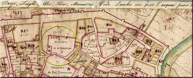 MAPPA 1721 S. ORSOLA