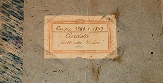 """ARCORE 1868-1869  """"I COLONI AL SERVIZIO DEI CONTI CASATI"""""""