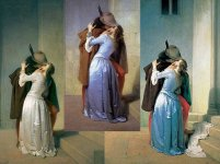 il Bacio di Hayez nelle 3 versioni