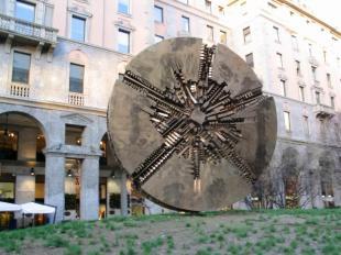 disco Pomodoro in piazza Meda