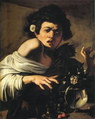 Fanciullo morso da un ramarro, 1596-97