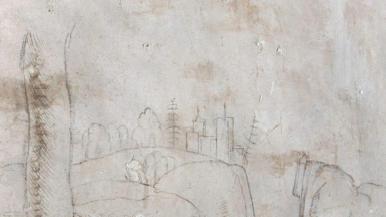 Disegno di Leonardo ritrovato sotto alle assi