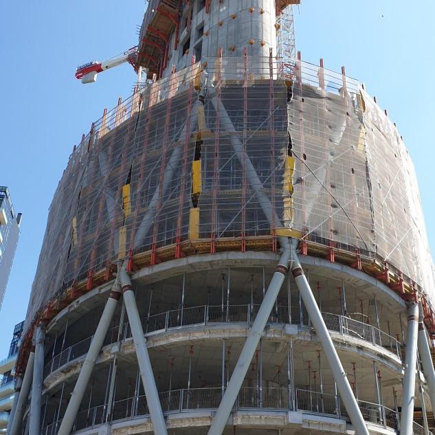 part. Torre Unipol in costruzione