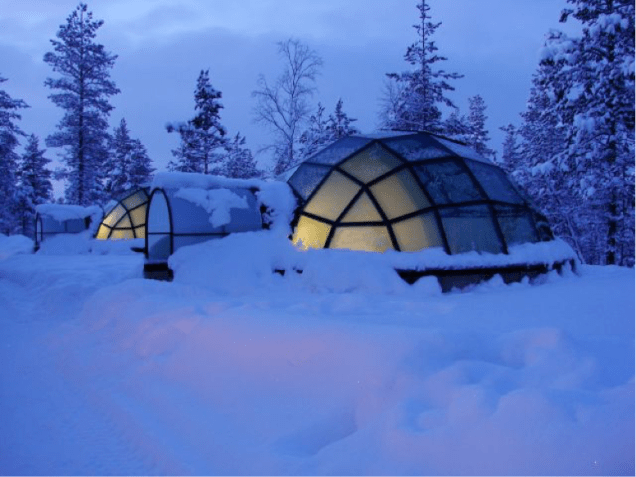 Glass Igloo al Kakslauttanen Artic Resort - Lapponia