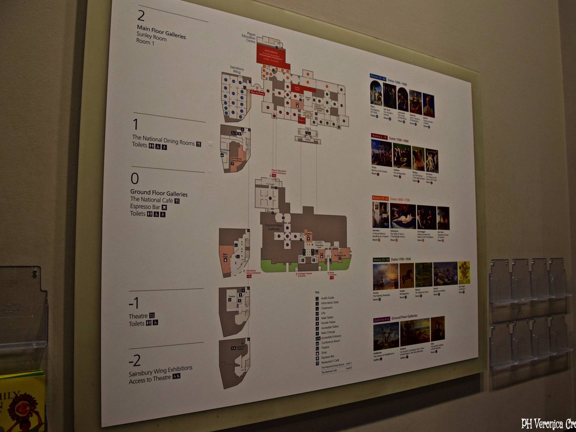 Mappa National Gallery - Londra (Inghilterra)
