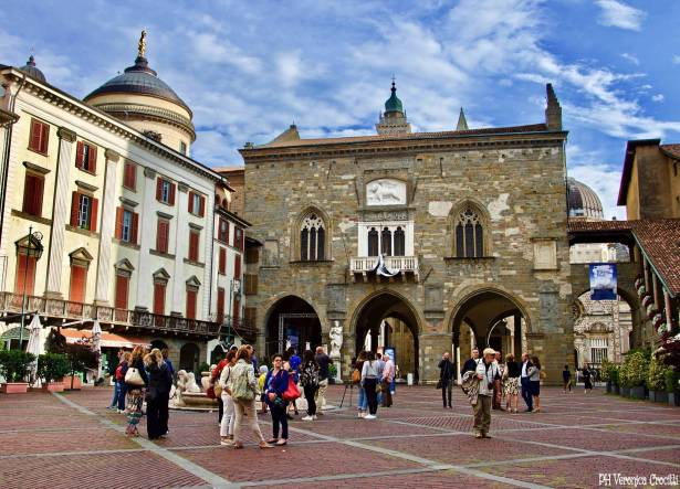 Piazza Vecchia e Palazzo della Ragione, Bergamo Alta (Lombardia - Italia)
