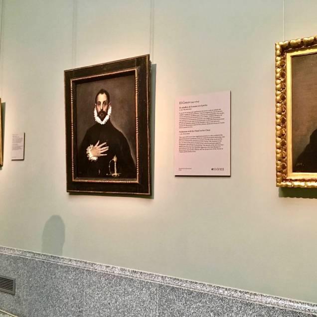 Il Cavaliere con la Mano al Petto, El Greco. Museo del Prado - Madrid, Spagna