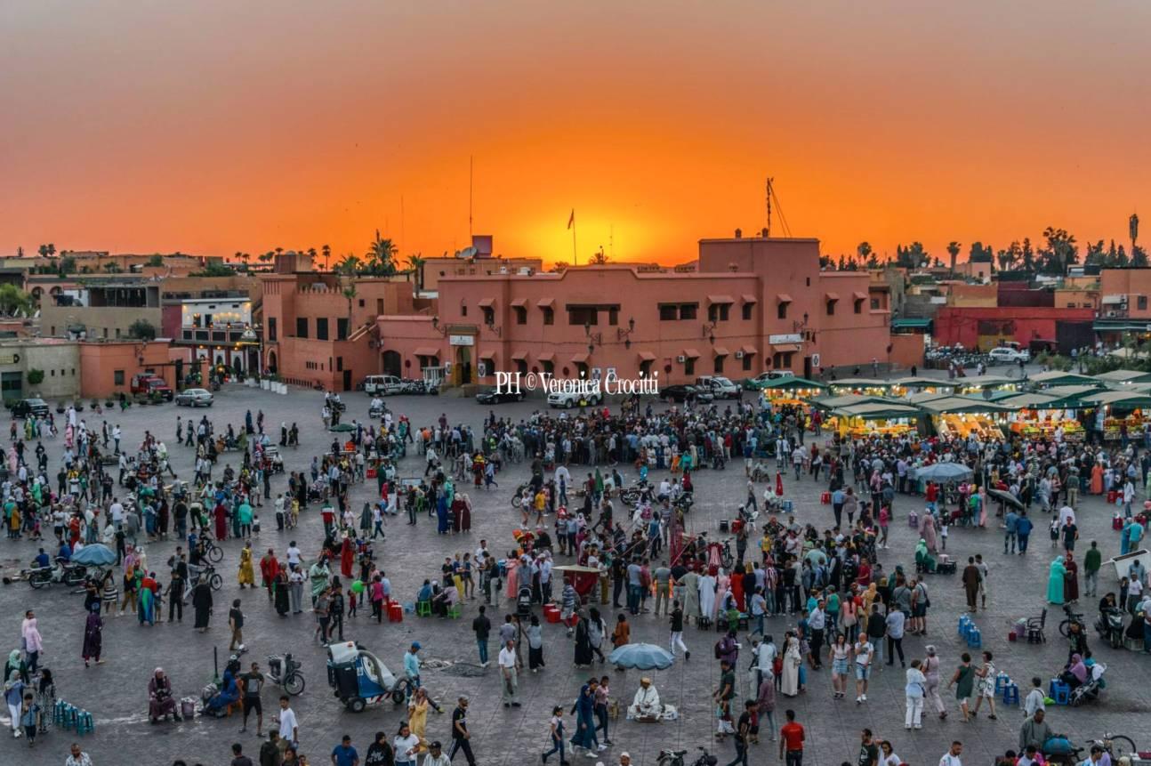 Tramonto a Jamaa El Fna, Marrakech - Marocco