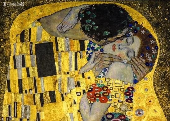 Bacio di Klimt, Palazzo Belvedere - Vienna, Austria (Europa)