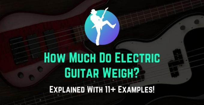 how much do electric guitar weigh