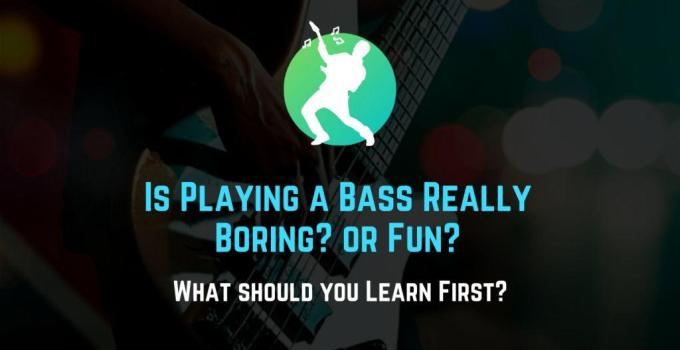 is bass guitar boring