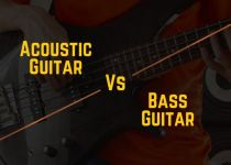acoustic vs bass guitar