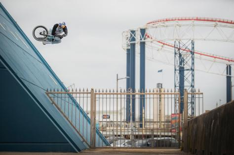 BMX star Kriss Kyle has collaborated with Danny MacAskill on the new video. Picture: Dave Mackison