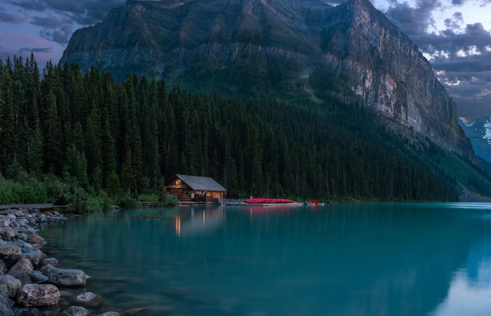 Landscape Photography at Lake Louise, Alberta during a landscape photography workshop