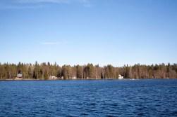 Looking across Nydalasjön to the eastern banks.