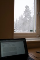 Working during a snowstorm = the best.