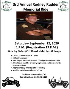 Flyer for 3rd Annual Rudder Ride