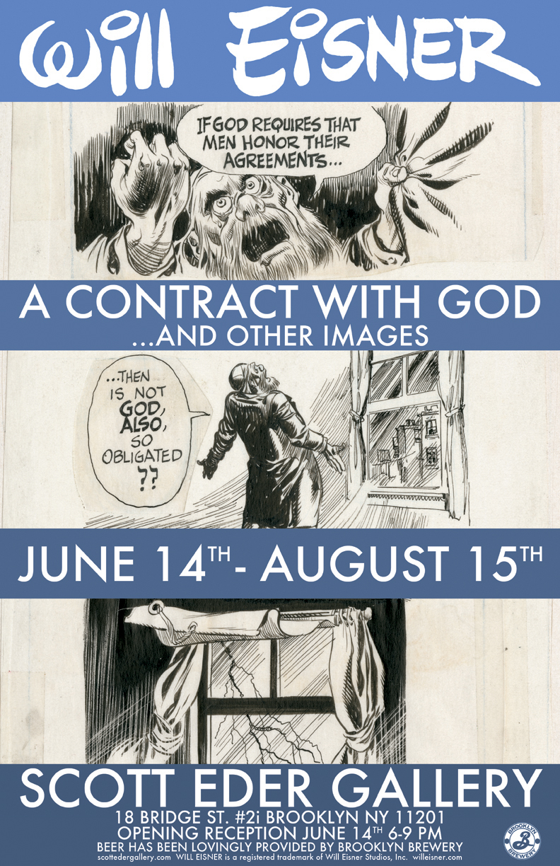 Eisner's A Contract with God at Scott Eder Gallery