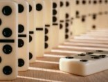 Dominoes 1 Down White