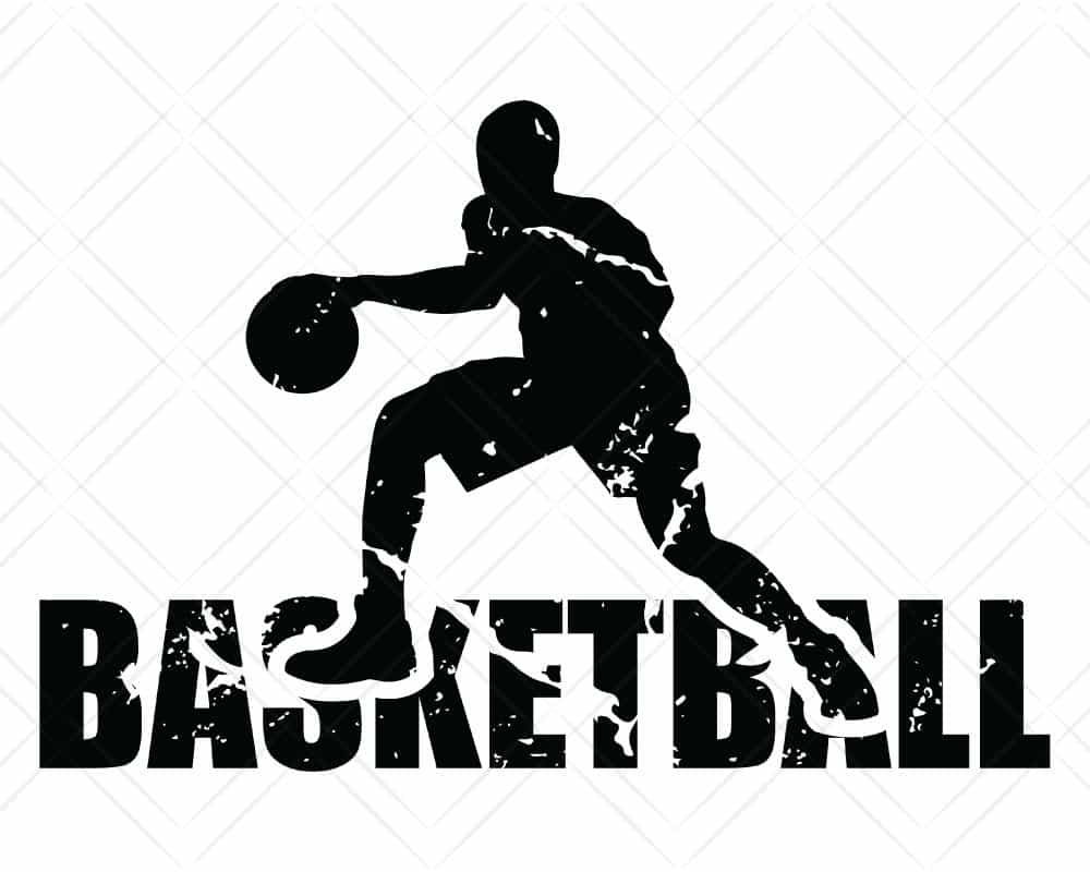 Download Basketball Player Distressed SVG Cut Files | Scotties Designs