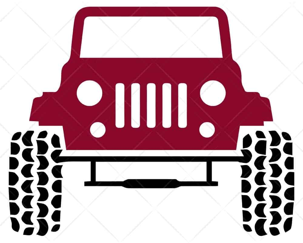 Download Jeep Red SVG Cut Files | Scotties Designs