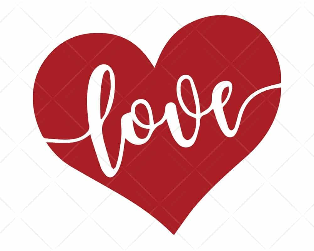 Download LOVE Heart SVG for Cricut and Silhouette | Scotties Designs
