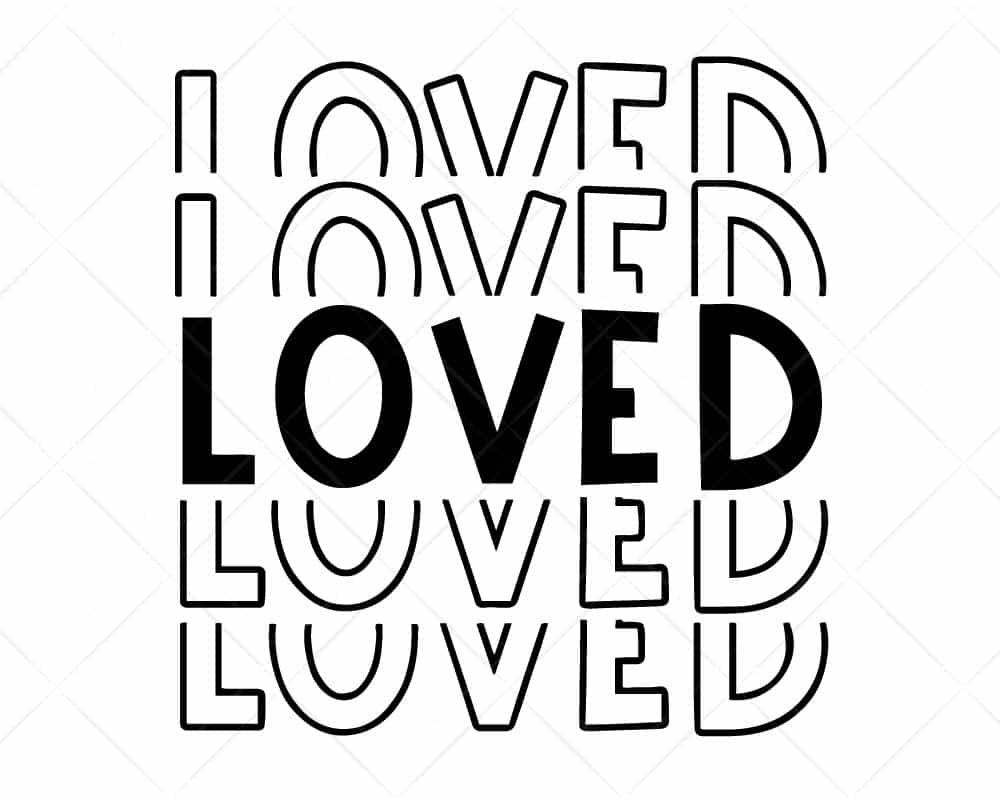 Download Loved Stacked Letters SVG Cricut Silhouette | Scotties Designs