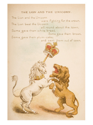 The Lion & The Unicorn - Traditional Nursery Rhyme Poster
